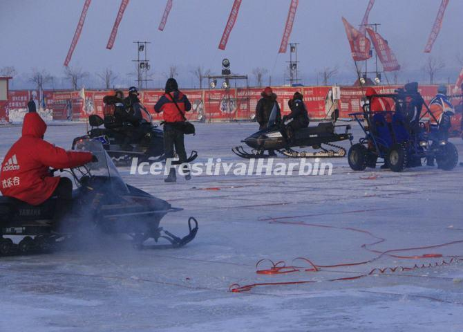 Snowmobiling at Harbin Ice and Snow Happy Valley
