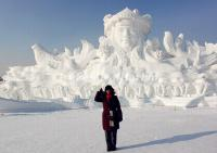 The Giant Snow Sculpture on Harbin Sun Island
