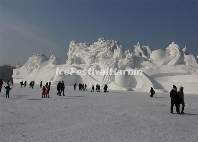 Snow Sculptures from 2014 Harbin Ice Festival