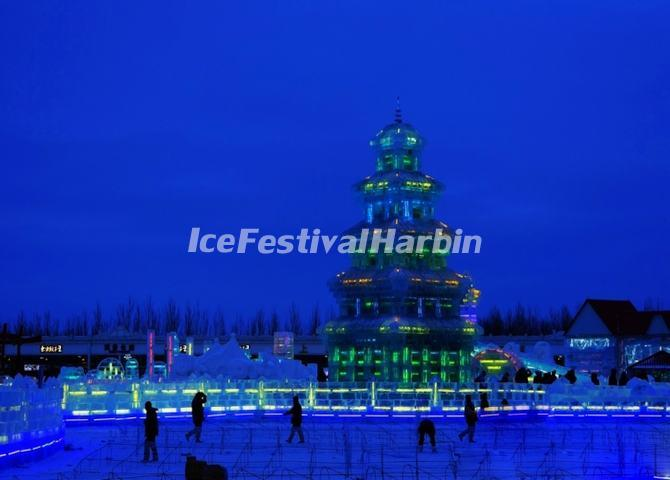 Night Scene of Harbin Ice and Snow World 2014