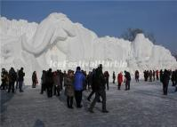 Snow Sculptures at Harbin Ice Festival 2014