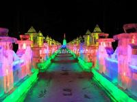 The Ice Lanterns in Zhaolin Park