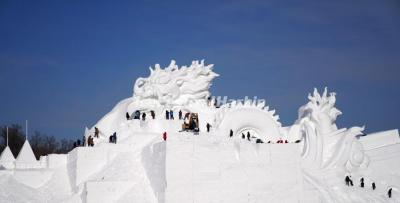 2021 Snow Sculpture Art Expo - Holy Dragon of China