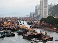 Aberdeen Floating Village in Dragon Boat Festival