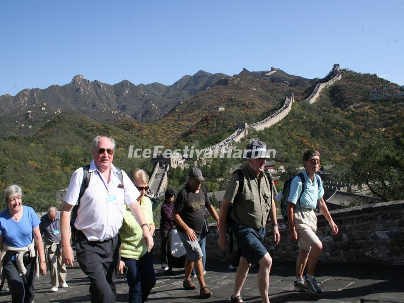 Tourists in Badaling Great Wall