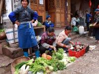 A Vagetable Market in Lijiang Baisha Ancient Town