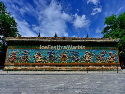 Nine-dragon Wall in Beijing Beihai Park