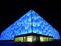 Beijing National Aquatics Center Night Scence