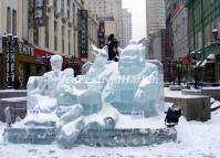 The Snow Sculpture on Harbin Central Street