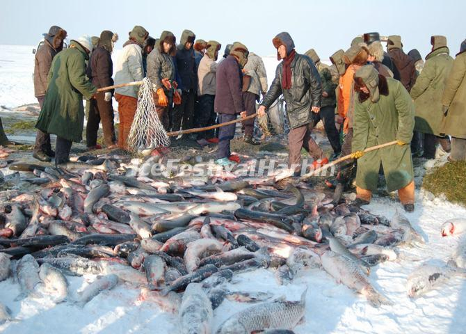 Winter Fishing in Chagan Lake