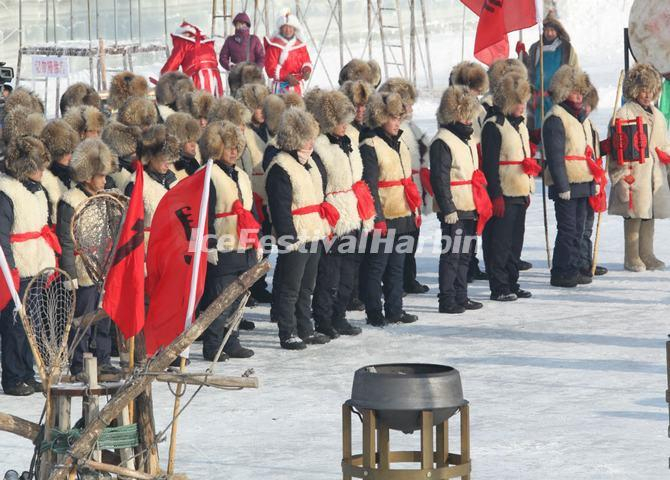 Ceremony of the Winter Fishing Festival in Chagan Lake
