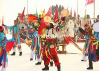 Winter Fishing Ceremony in Chagan Lake Jilin China