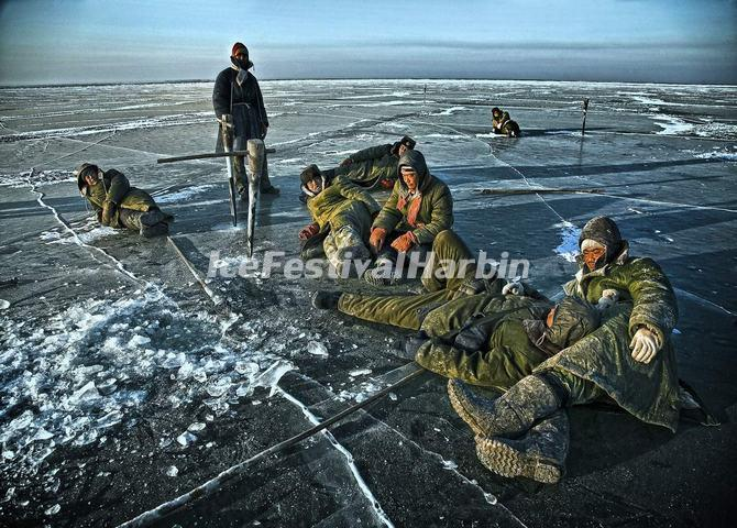 Chagan Lake Winter Fishing China