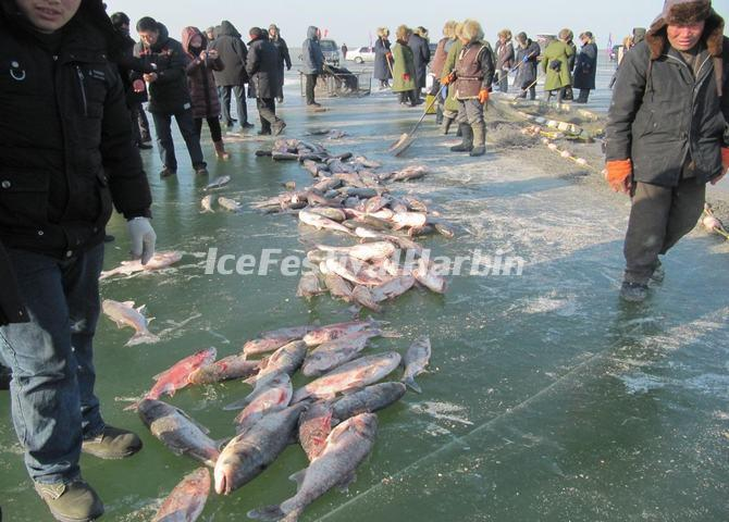 Chagan Lake Ice and Snow Fishing Festival Songyuan Jilin China