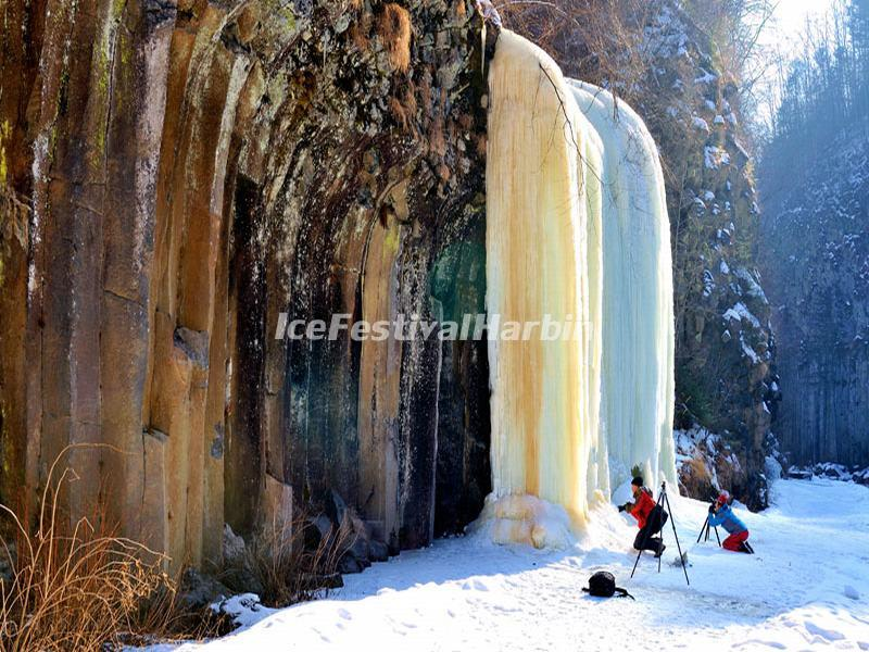 Changbai Mountains Ice Waterfall