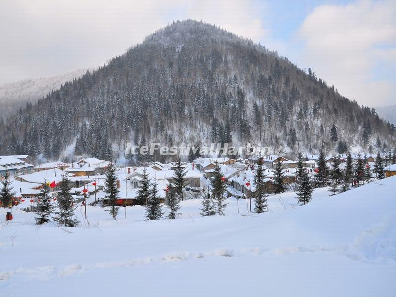 The Datuzi (Big Baldicoot) Mountain in China's Snow Town