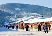 Street in China's Snow Town