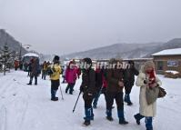 Tourists Visit China's Snow Town