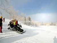 Enjoy Snowmobiling in China's Snow Town