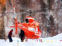 China's Snow Town Helicopter Tour