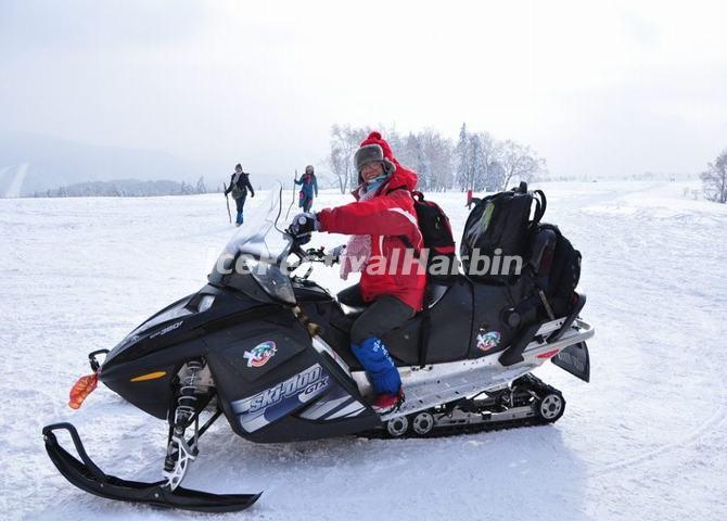Snowmobiling in China's Snow Town