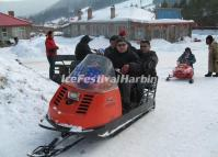 China's Snow Town Snowmobiling