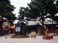 The Statue of Confucius in Harbin Confucius Temple