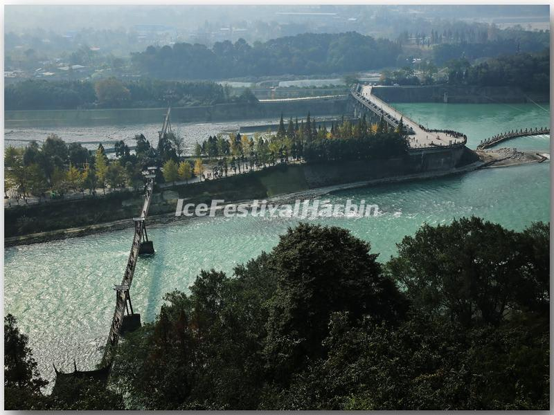 A Bridge Over Dujiangyan Irrigation System