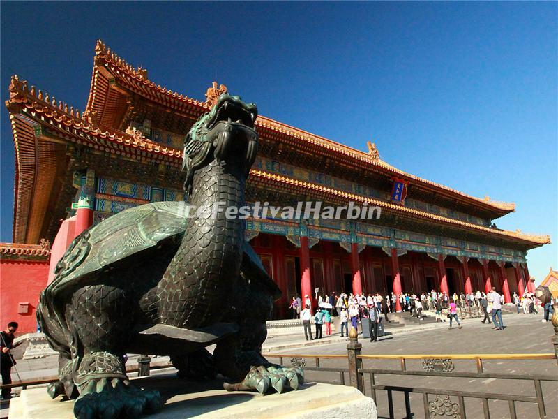 A Tortoise Statue in Beijing Forbidden City