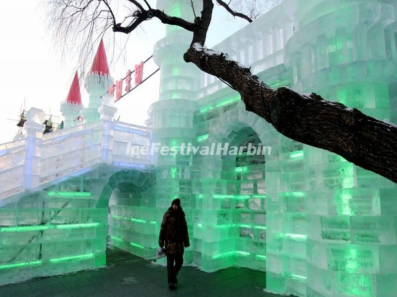 Ice Sculptures in Harbin Ice and Snow Happy Valley 2015
