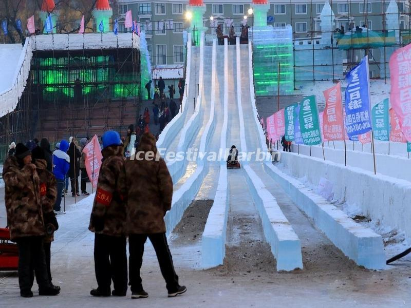 Ice Sliding in Harbin Ice and Snow Happy Valley 2015