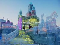 Ice Buildings in Harbin Ice and Snow World 2015