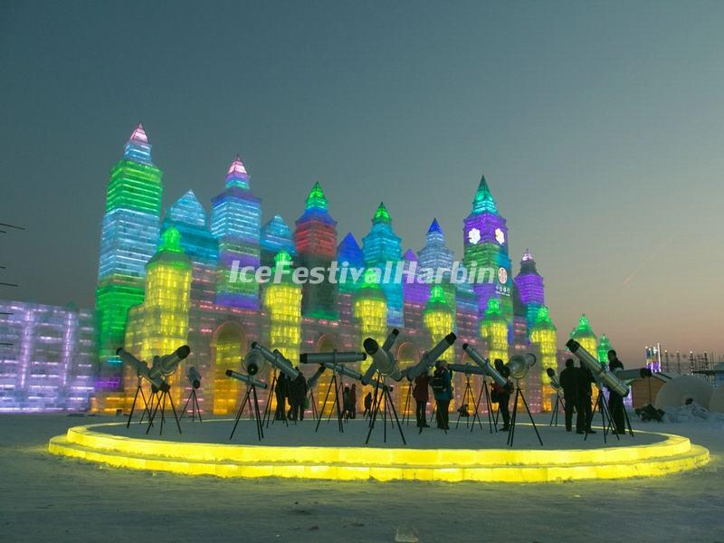 ice castle in harbin ice and snow world in 2015
