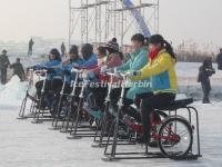 Ice Bicycles in Harbin Ice and Snow World 2015