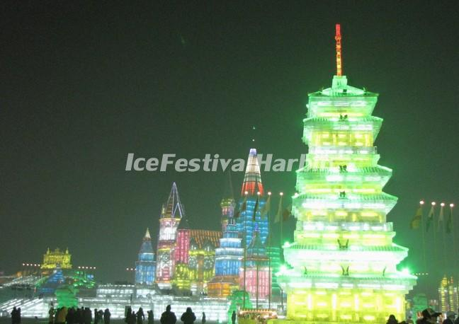 Harbin Ice and Snow World Evening