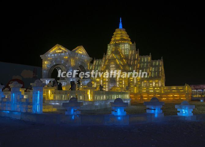 Harbin Ice and Snow World Night Scene