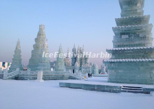 Harbin Ice and Snow World in Daytime