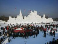 Ice Collective Wedding Ceremony on Harbin Sun Island