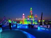Night in Harbin Ice and Snow World