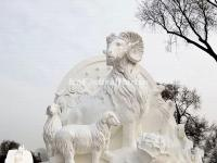 Snow Sculpture - Lucky Rams Bringing Bliss