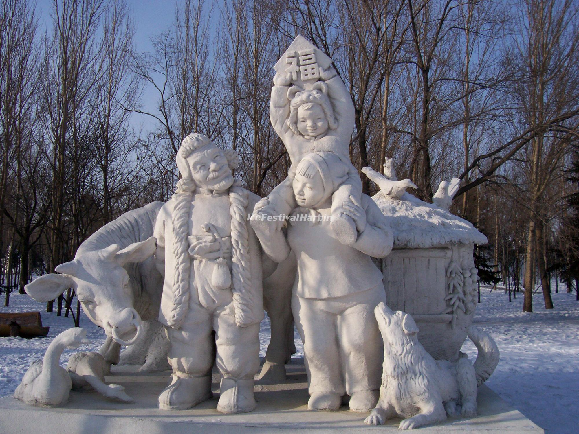 Snow sculptures harbin ice festival wallpapers china