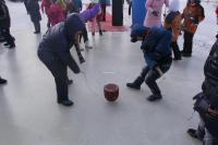 Spinning Top on Ice in Harbin