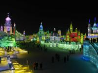 Harbin Ice Festival at Night