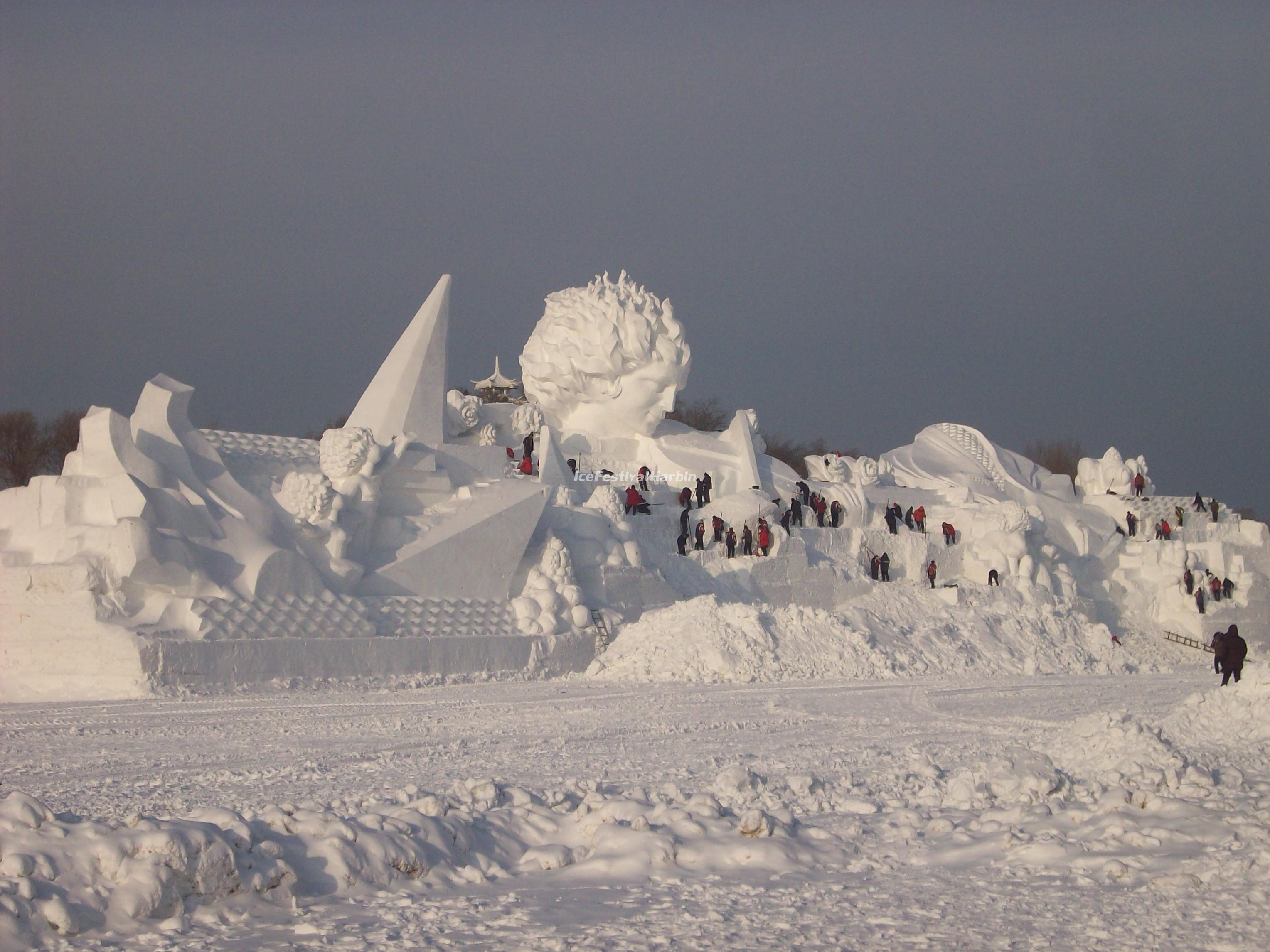 Harbin Snow Sculptures Wallpaper