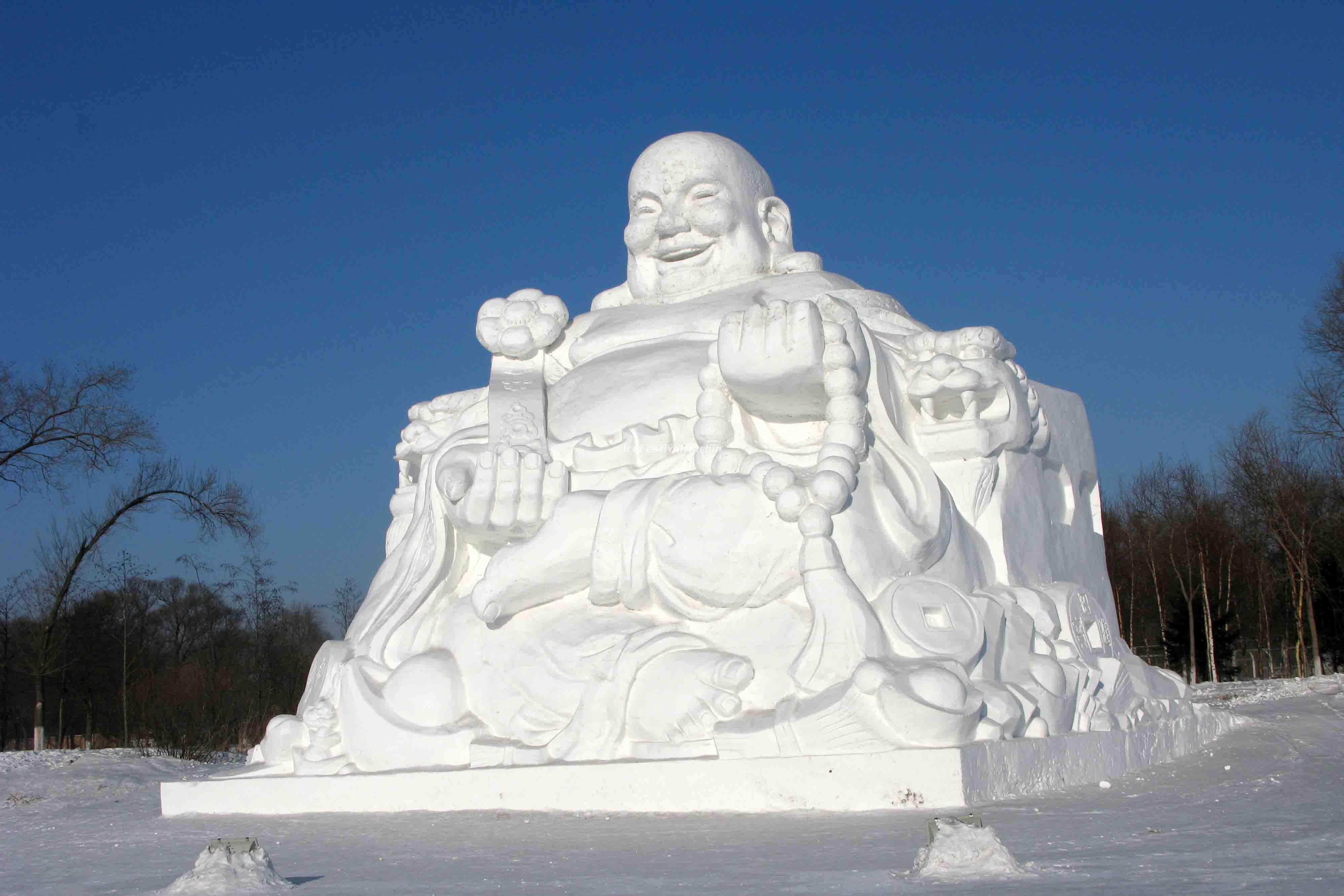 Harbin Snow Sculpture Wallpaper