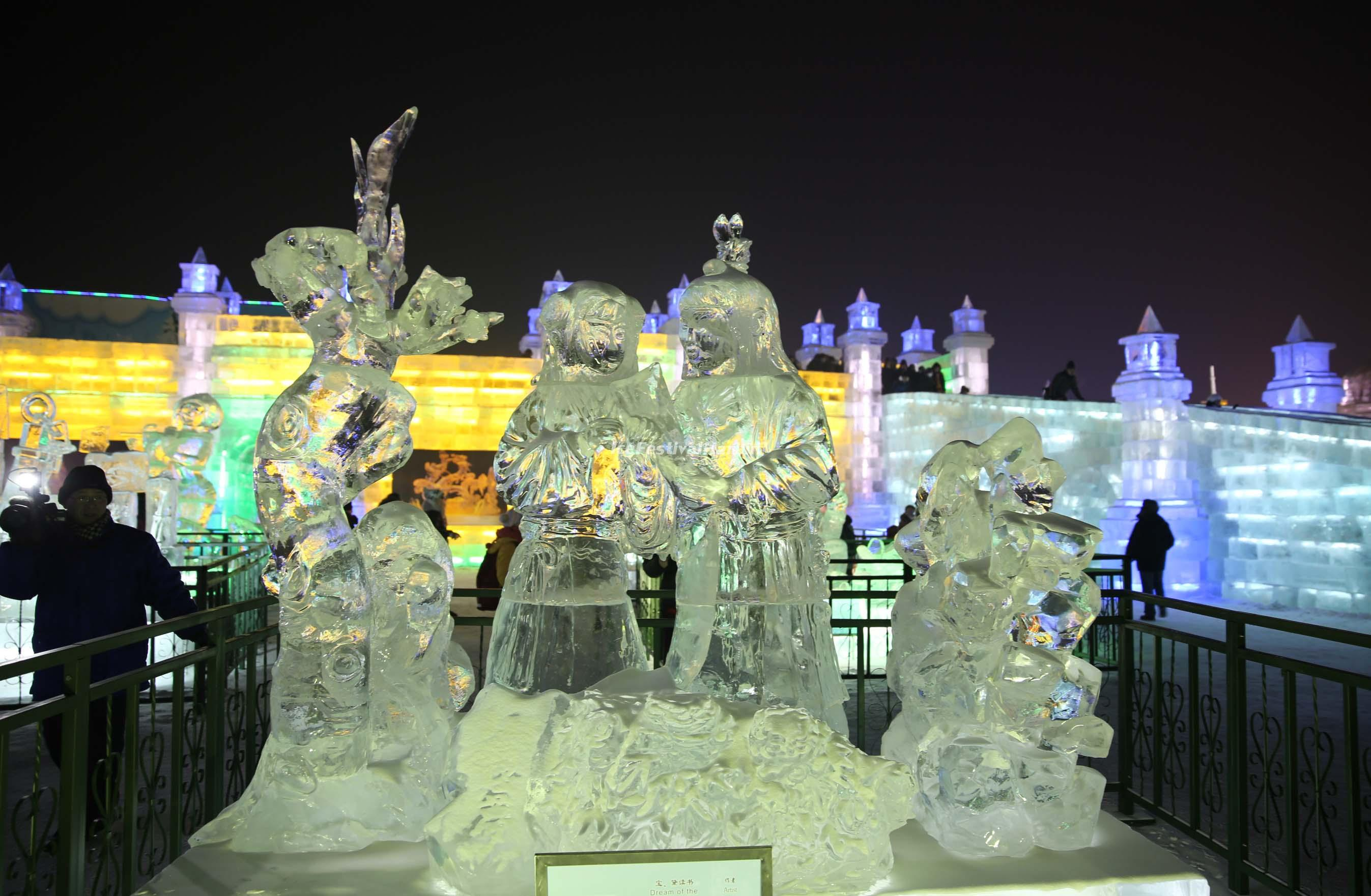 Harbin ice sculptures festival wallpapers china