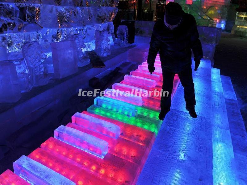 Ice Piano in Harbin Ice Lantern Fair
