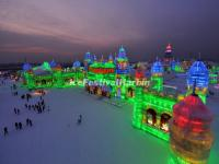 Harbin Ice Festival Panoramic View