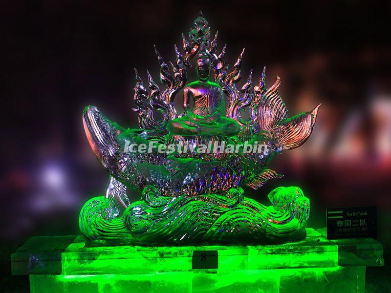 Ice Sculpture by Team Ⅱof Thailand