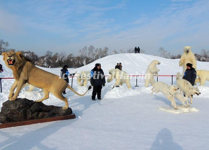Snow Sculptures of Harbin Snow Sculpture Art Expo 2014: Polar Animals